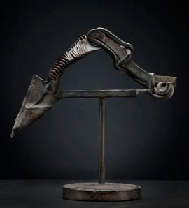 Karl Stirner, Untitled, 1987–1990, Steel, 13.25 x 13.25 x 6 inches, Collection of Karl Stirner, Photograph courtesy of Ken Ek