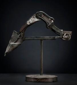 Karl Stirner, Untitled, 1987–1990, Steel, 13.25 x 13.25 x 6 inches, Collection of Karl Stirner, Photograph courtesy of Ken Ek