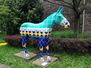 The Burro of Doylestown now greets visitors to the Michener Art Museum.